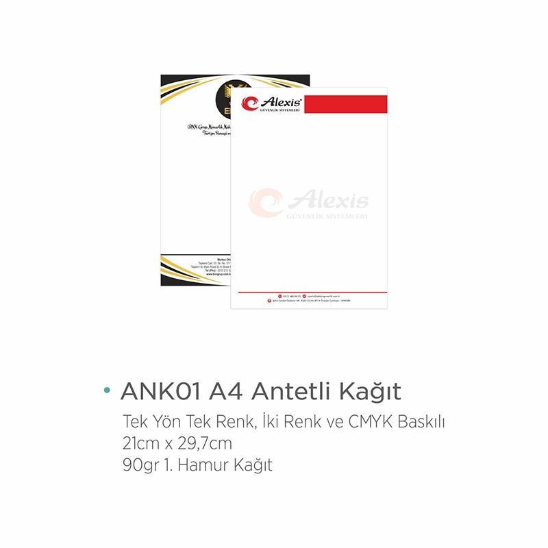 ANK01 Antetli Kağıt
