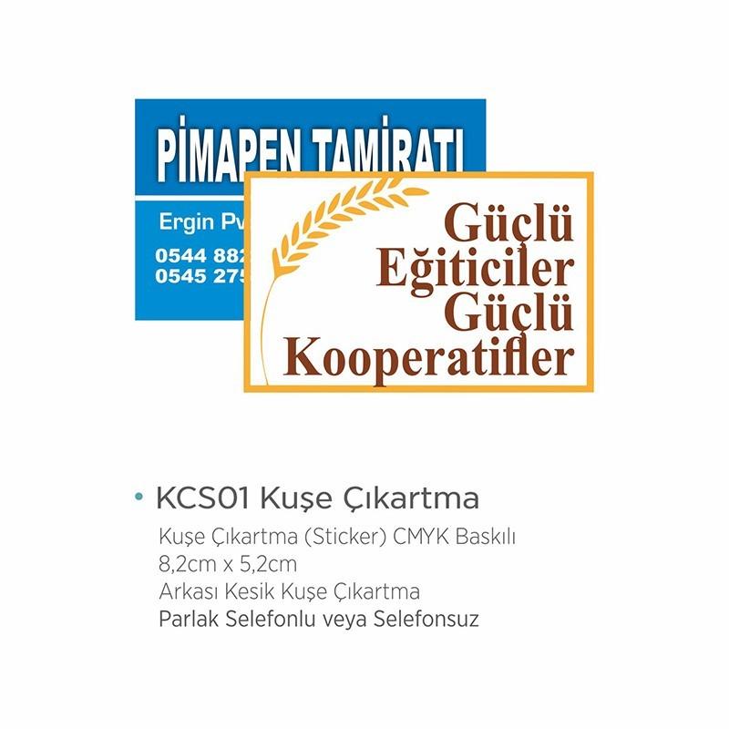 KCS01 Kuşe Çıkartma (Sticker)