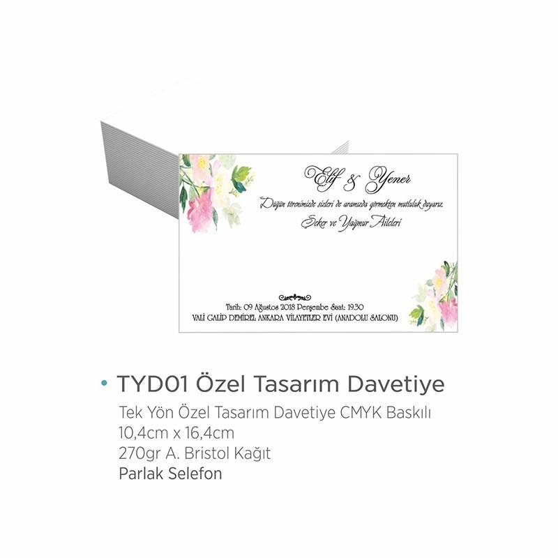 TYD01 Özel Tasarım Davetiye